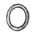 picto cadre ovale de Axelle Gay pour l'atelier des 4 coins