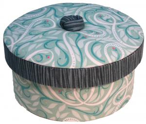 cartonnage création boite ronde -atelier des 4 coins