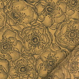 Anémones jaune/noir – 50 x 70 cm – 100 g
