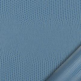 papier simili cuir au motif lézard bleu ciel dont l'aspect et le toucher sont proches des cuirs exotiques.