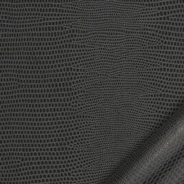 papier simili cuir au motif lézard gris foncé dont l'aspect et le toucher sont proches des cuirs exotiques.