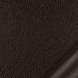 papier simili cuir au motif galuchat marron foncé dont l'aspect et le toucher sont proches des cuirs exotiques.
