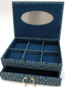 cartonnage création boite a tiroir -atelier des 4 coins