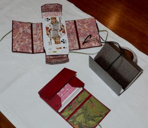 cartonnage création étui à cartes -atelier des 4 coins