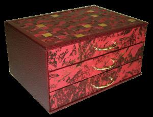 cartonnage création commode 3 tiroirs -atelier des 4 coins
